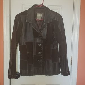 NY Collection Genuine Leather Jacket